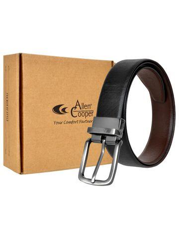 Allen Cooper   Allen Cooper Black Leather Belts For Men