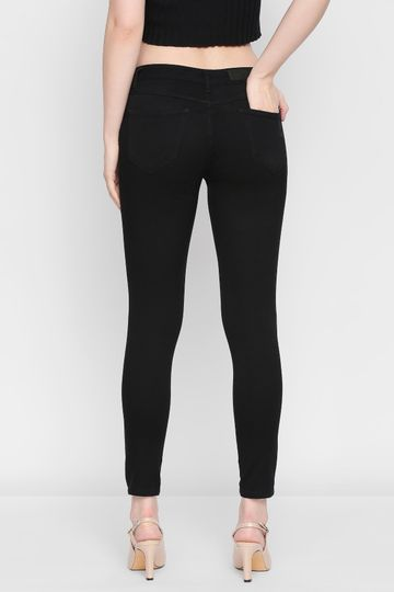 AND | Black Slim Leg Crop Bottom
