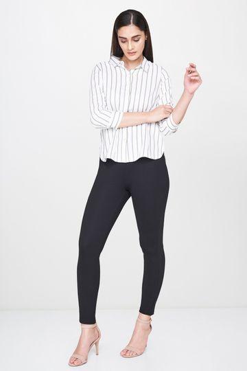 AND | Black Slim Leg Regular Bottom