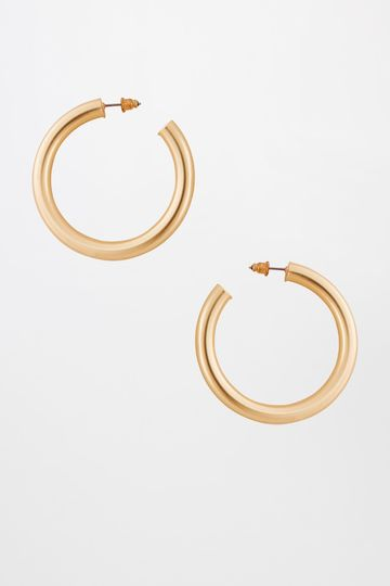 AND | Gold Mat Hoop Earrings