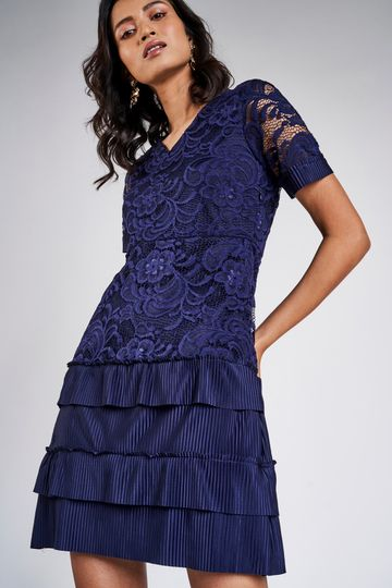 AND | NAVY DRESS