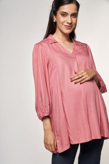 AND | Pink Solid Top