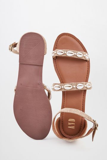 AND | Beige Beaded Flats
