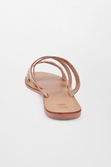 AND | Rose Gold Beaded Flats