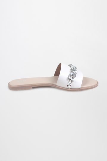 AND | White Studded Flats
