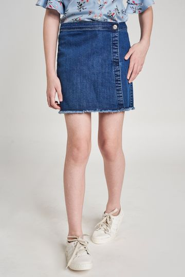 AND | Dark Blue Self Design Shorts