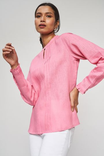 AND | Rose Wood Solid A-Line Top