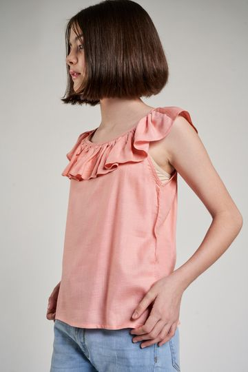 AND | Pink Solid A-Line Top
