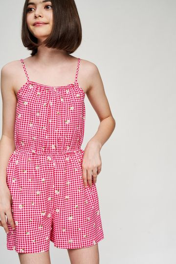 AND | Pink Floral Printed Fit And Flare Jumpsuit