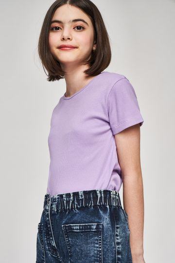 AND | Lilac Solid A-Line Top