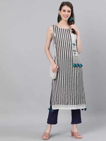 ANTARAN | Striped Straight Kurta