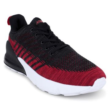ATHLEO by Action   Action ATHLEO by Men Fabric Sports Running Shoes (Red Black)