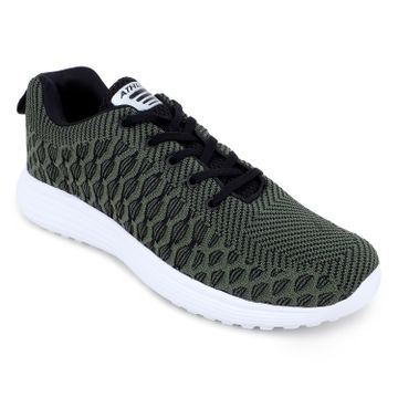 ATHLEO by Action | Action ATHLEO by Men Fabric Sports Running Shoes (Olive)