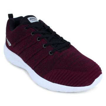 ATHLEO by Action | Action ATHLEO by Men Fabric Sports Running Shoes (Maroon)