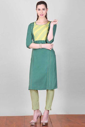 Aurelia   Aurelia Women Green Color Kurta