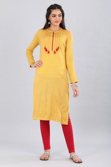 Aurelia   Aurelia Women Yellow Color Kurta