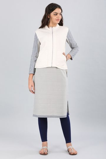 Aurelia   Aurelia Women White Color Jacket