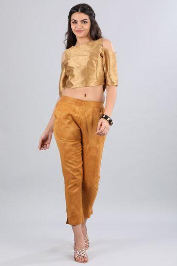 Aurelia | Aurelia Women Gold Color Trouser