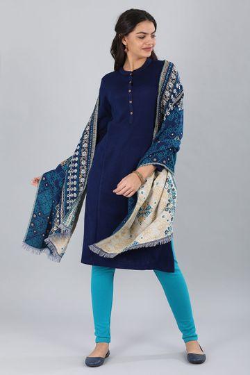 Aurelia   Aurelia Women Blue Color Shawl