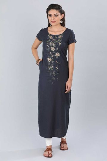 Aurelia | Aurelia Women Blue Color Kurta