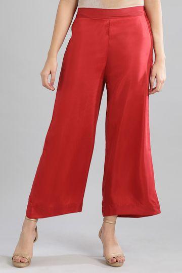 Aurelia | Red Solid Palazzos