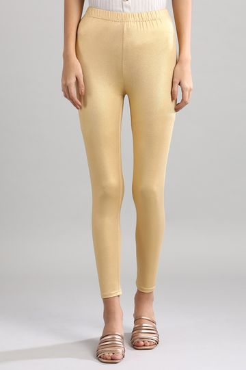 Aurelia | Gold Knitted Tights