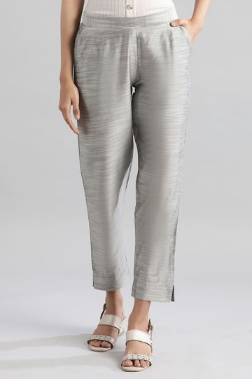 Aurelia   Grey Solid Trousers