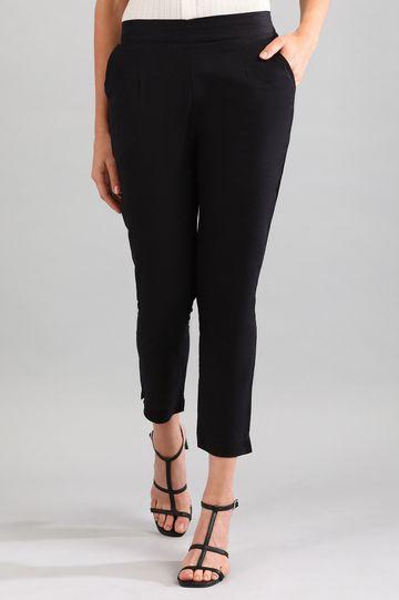 Aurelia   Black Solid Trousers