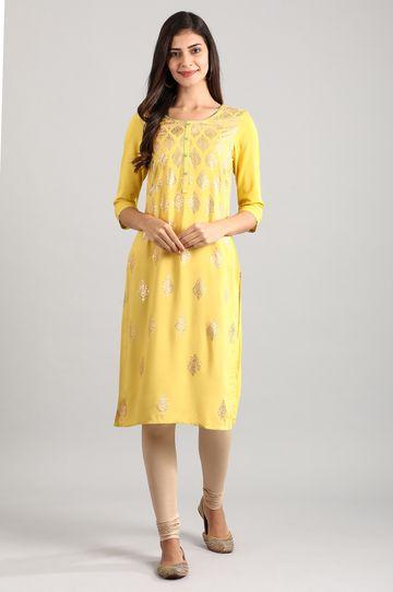 Aurelia   Yellow Straight Kurta