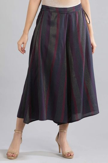 Aurelia | Navy Stripes Culottes