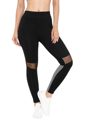 De Moza | De Moza Women's Ankle Length Leggings Solid Cotton Black