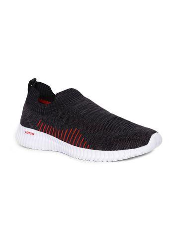 Lotto | Lotto Men's Savino Black/Red Slip On Shoes