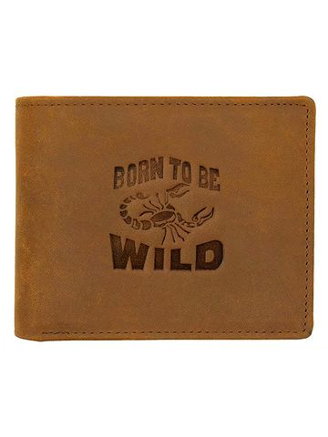 WildHorn | WildHorn RFID Protected Genuine High Quality Leather Tan Wallet for Men