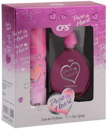 CFS | CFS PURE HEART PINK 100ML PERFUME WITH 200ML PURE HEART PINK DEODORANT | LONG LASTING BEST PERFUME & DEODORANT  (2 Items in the set)