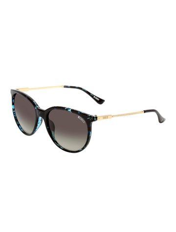 ENRICO | ENRICO Galaxy UV Protected Round Sunglasses for Women ( Lens - Black | Frame - Black)