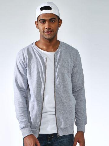 Blue Saint   Blue Saint Men's Grey Regular Fit Sweatshirts
