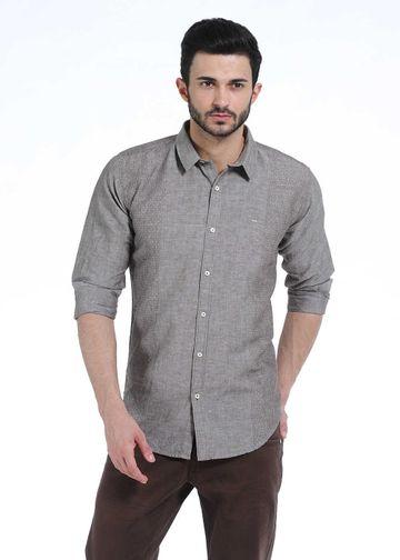 Basics | Basics Slim Fit Moon Rock Chambray Combination Shirt