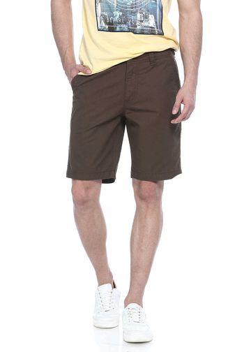 Basics   Basics Comfort Fit Dark Olive Cotton Shorts