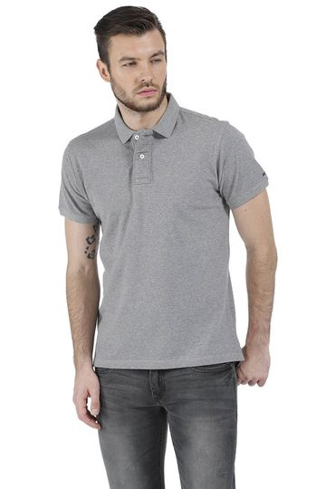 Basics | Basics Casual Plain Grey Cotton Muscle T.Shirt