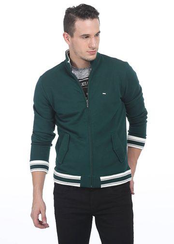 Basics | Basics Muscle Fit Jasper Green High Neck Knit Jacket