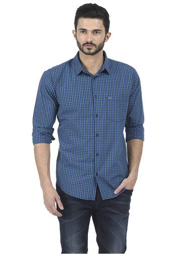 Basics | Basics Slim Fit Green Spruce Fila Fil Checks Shirt