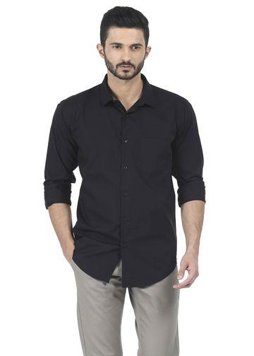 Basics   Basics Slim Fit Pirate Black Twill Shirt