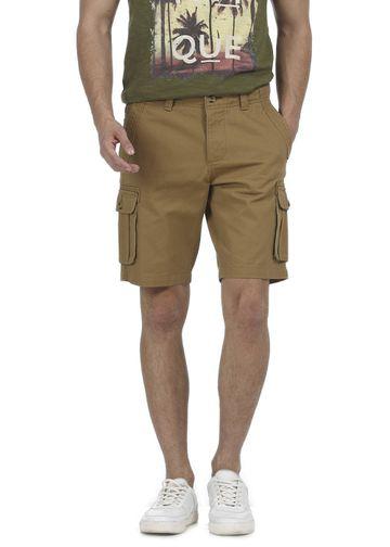 Basics | Basics Comfort Fit Bistre Khaki 6 Pocket Cargo Shorts