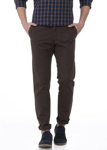 Basics | Basics Slim Fit Cub Brown Trouser