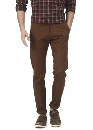 Basics | Basics Tapered Fit Pine Cone Brown Stretch Trouser