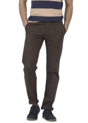 Basics | Basics Slim Fit Mole Brown Structure Trouser