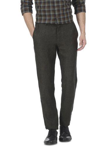 Basics | Basics Tapered Fit Forest Night Linen Trouser