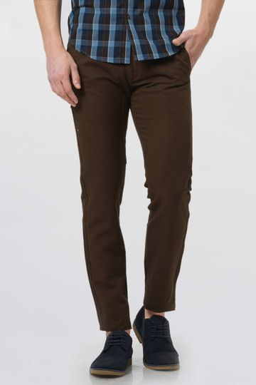Basics | Basics Tapered Fit Dark Earth Twill Trouser