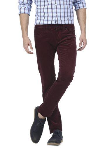Basics | Basics Skinny Fit Windsor Red Corduroy Stretch Trouser
