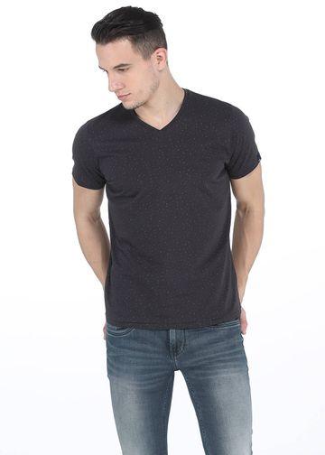 Basics | Basics Muscle Fit Slate Grey V Neck T. Shirt